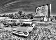 Honor Photo Posters - Classic Cars at the Drive-In Poster by Twenty Two North Photography
