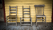 Wood Porch Posters - Classic Chairs Poster by Perry Webster