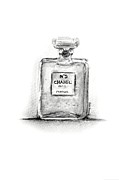 Black And White Paris Mixed Media Posters - Classic Chanel N5 Poster by Rua Francis