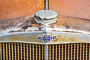 Gas Cap Prints - Classic Chevy Hood Print by Carolyn Marshall