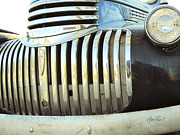 Classic Trucks Photos - Classic Chevy Truck Grill by Ann Powell