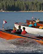 Mahogany Prints - Classic Chris Craft Print by Steven Lapkin