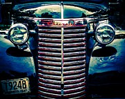 Classic Truck Prints - Classic Chrome Grill Print by Perry Webster