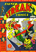 Crimes Photo Prints - Classic Comic Book Cover - Silver Streak Comics Daredevil - 0320 Print by Wingsdomain Art and Photography
