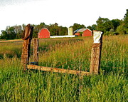Old Fence Posts Metal Prints - Classic Countryside Metal Print by Susan Wyman