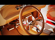 Posters On Digital Art - Classic Custom Car Interior by Deborah Fay