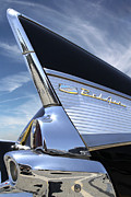 Black Car Prints - Classic Fin - 57 Chevy Belair Print by Mike McGlothlen
