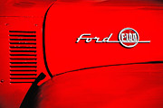 Oldies Prints - Classic Ford F100 Print by Karol  Livote