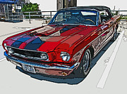 Carroll Shelby Photo Posters - Classic Ford Mustang Convertible Poster by Samuel Sheats