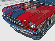 Classic Ford Mustang Nose Study Print by Samuel Sheats