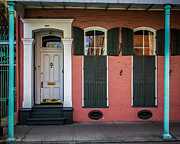 French Quarter Doors Framed Prints - Classic Front Framed Print by Perry Webster
