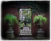 Iron Gate Posters - Classic Garden Gate Poster by Perry Webster