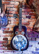 Jeffery Johnson Prints - Classic Guitar On Display Print by Photo Captures by Jeffery