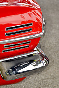 Red Street Rod Photos - Classic Impala In Red by Carolyn Marshall