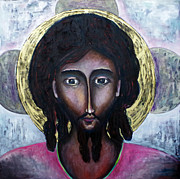 Jesus Christ Icon Painting Metal Prints - Classic Jesus Icon Metal Print by Andrew Osta