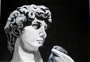 Greek Sculpture Painting Metal Prints - Classic Metal Print by Liz Borkhuis