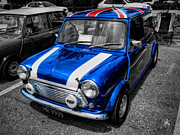 British Classic Cars Framed Prints - Classic Mini Cooper Framed Print by Lance Vaughn