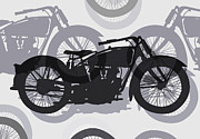 Classic Motorcycle  Print by Daniel Hagerman