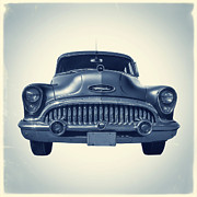 Classic Automobile Prints - Classic old car on vintage background Print by Edward Fielding