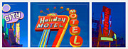 Motel Metal Prints - Classic Old Neon Signs Metal Print by Edward Fielding
