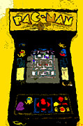 Video Game Digital Art Prints - Classic Pacman Print by David Lee Thompson