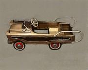 Classic Ranch Wagon Pedal Car Print by Michelle Calkins