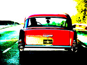 Mark I Posters - Classic Red Chevy Poster by Mark Moore