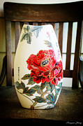 Featured Ceramics - Classic rich hibiscus flowers by Hongyan Zhang