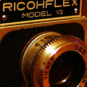 Camera Lens Framed Prints - Classic Ricohflex Camera - 20130117 - square Framed Print by Wingsdomain Art and Photography