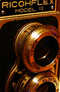 Camera Lens Framed Prints - Classic Ricohflex Camera - 20130117 Framed Print by Wingsdomain Art and Photography