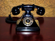 Olivetti Photo Metal Prints - Classic Rotary Dial Telephone Metal Print by Mariola Bitner