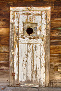 Picture Window Frame Photos Art - Classic Rustic Rural Worn Old Barn Door by James Bo Insogna