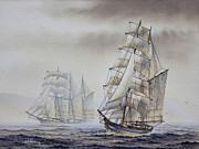 Maritime Greeting Card Prints - Classic Sail Print by James Williamson