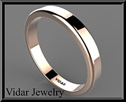 Romantic Rose Jewelry - Classic Simple 14k Rose Gold Mens Wedding Ring  by Roi Avidar