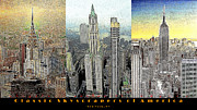 Skylines Digital Art Prints - Classic Skyscrapers of America 20130428 Print by Wingsdomain Art and Photography