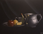 Pitcher Drawings Metal Prints - Classic Still-life Metal Print by Jason Welter