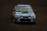 Subaru Rally Prints - Classic Subaru Impreza Rally Car Print by Renars Zagars