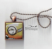 Old Jewelry Originals - Classic Taxi Handcrafted Pendant by Jak of Arts Photography