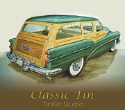 Buick Paintings - Classic Tin by Carlos David