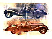 Open Car Framed Prints - Classic Tourer Framed Print by David Ridley