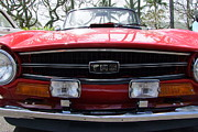 Mary Deal Prints - Classic Triumph TR6 Front End Print by Mary Deal