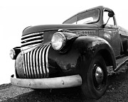 Classic Trucks Photos - Classic Truck in Black and White by Ann Powell