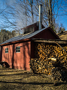 Shed Photo Prints - Classic Vermont Maple Sugar Shack Print by Edward Fielding