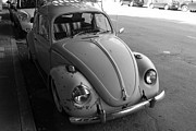Wingsdomain Art and Photography - Classic Volkswagon Bug DSC1201 Black and White