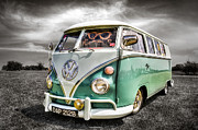 Vw Camper Van Framed Prints - Classic VW Camper Van Framed Print by Ian Hufton