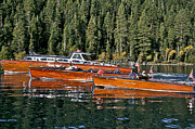 Mahogany Prints - Classic Wooden Boats of Lake Tahoe Print by Steven Lapkin