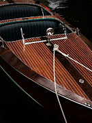 Chris Craft Photos - Classic Wooden Power Boat by Edward Fielding