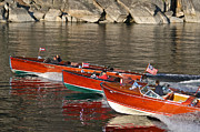 Mahogany Prints - Classic Woodies at Lake Tahoe Print by Steven Lapkin