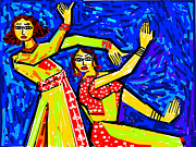Classical Dancers Print by Anand Swaroop Manchiraju