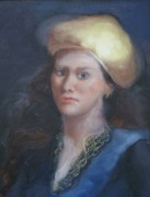 League Painting Originals - Classical Gaze by Patricia Kimsey Bollinger